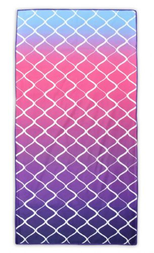 Microfibre Lightweight Beach Towel For Holiday Travel Camping Yoga Gym 70x140cm Lattice Pink